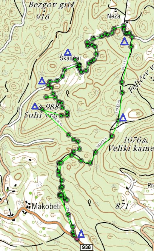 orientacija - karta